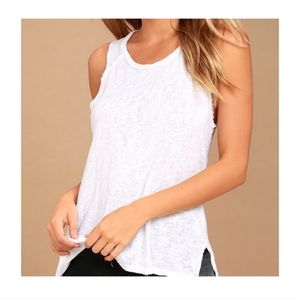Project Social T White Muscle Tank Top Large